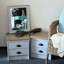 Nábytok - Dva provance nočné stolíky - 7187005_