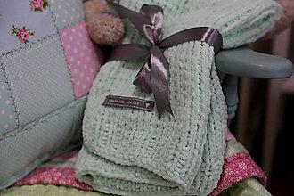 Textil - Mäkučká deka pre bábätko zelená - 7187282_