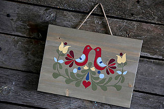 Obrázky - Folklórny ornament na dreve - 7187549_