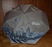 Iné doplnky - Dáždnik Praha ručne maľovaný - 7187944_