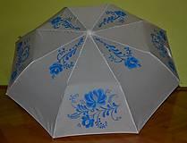 Iné doplnky - Maľovaný dáždnik - ľudový vzor - 7188625_