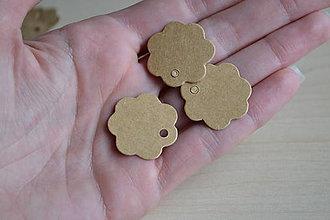 Papier - Kartónové štítky kvety, 25mm, 0.60€/10ks - 7188006_