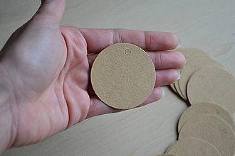 Papier - Kartónové štítky guľa 5cm, 0.75€/10ks - 7188030_