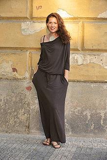 Šaty - BOHO šaty univerzálne - čokoládové - 7187092_