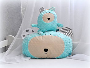 Textil - Hlava macka azúrová - 7193781_