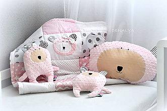 Textil - Hlava macka baby ružová - 7193787_