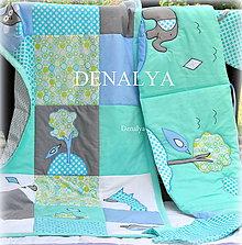 Úžitkový textil - 5 dielna sada DETSKÁ IZBA Jumbo azúrová - 7193925_