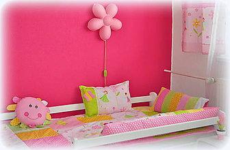 Úžitkový textil - 5 dielna sada DETSKÁ IZBA Kvetinková VíLA - 7193942_