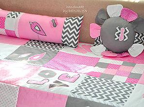 Úžitkový textil - 5 dielna sada DETSKÁ IZBA Love - 7193972_