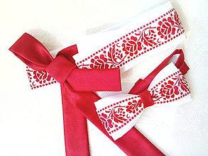 Opasky - Slovak folklore belt (red/white) - 7192956_