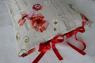 Úžitkový textil - Vankúš Fleurs - 7193122_