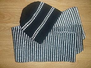 Doplnky - pánska čiapka a šál - 7193244_