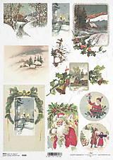 Papier - Ryžový papier Vianoce - 7193105_
