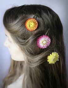 Ozdoby do vlasov - Sponka - slamienka - 7192803_