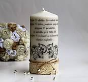 Dekoračná sviečka k narodeninám VIII.