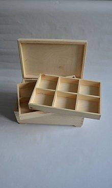 Polotovary - veľký kufrík/šperkovnica s 2 vyberateľnými priečinkami - 7190520_