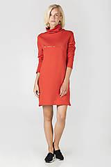 - Červené úpletové šaty - 7191549_