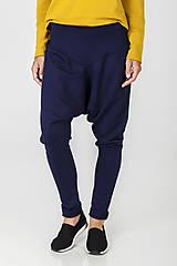- Modré úpletové kalhoty---SLEVA 30 EUR--- - 7191717_