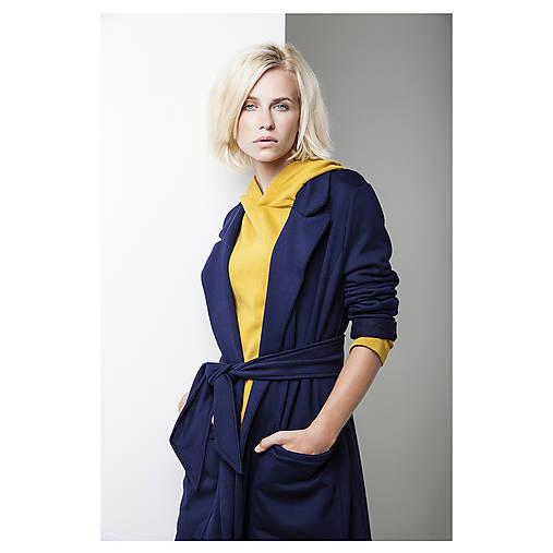 Kabáty - Modrý kabát - 7191769_