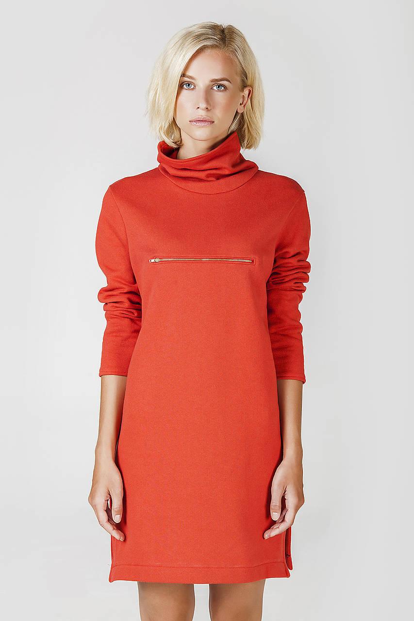 Červené úpletové šaty   DesignDictat - SAShE.sk - Handmade Šaty fb21835133