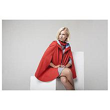 Kabáty - Červená pelerína - zlevněno o 50 %!!! - 7191472_