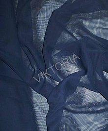 Textil - Šifón - tmavomodrý (J1040/13) - 7192478_