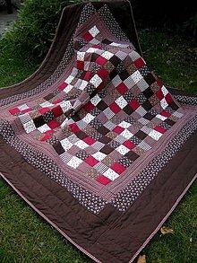 Úžitkový textil - višne v čokoláde :-) - 7192637_