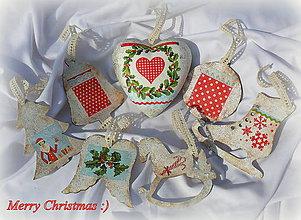 """Dekorácie - Vianočny set """"Red"""" ☺ - 7192773_"""