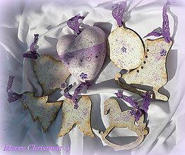 """Dekorácie - Trblietajúce vianočny ozdoby """"Violet"""" :) - 7192821_"""
