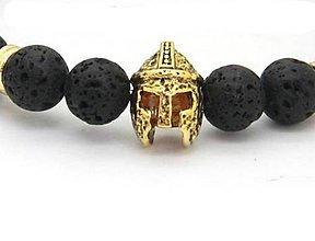 Korálky - Kovová korálka helma bojovníka / rytiera - 7192597_