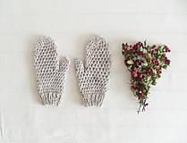 Rukavice - sivé rukavice. country tweed - 7192658_