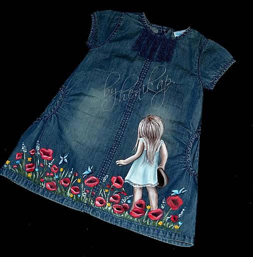 bae8b1443e27 Riflové šaty ručne maľované   henkap - SAShE.sk - Handmade Detské ...