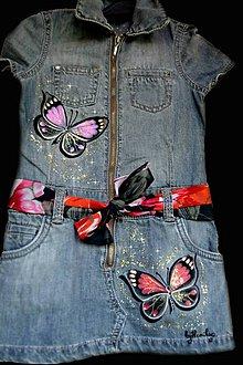 Detské oblečenie - Detské maľované šaty - 7191970_
