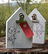 Dekorácie - Dekoračný  drevený domček - Odkaz pre (ŇU ♥) - 7195483_