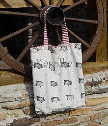 Nákupné tašky - Nákupná taška - Prasa v žite ZĽAVA z 12,50 na 9,50€ - 7195368_