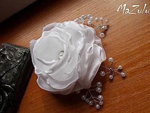 Ozdoby do vlasov - svadobná spona pre nevestu - 7195149_