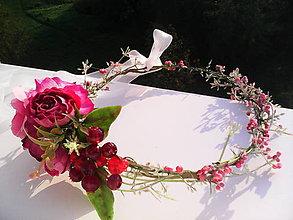 """Ozdoby do vlasov - Kvetinový venček do vlasov """"...Panna zázračnica..."""" - 7196321_"""