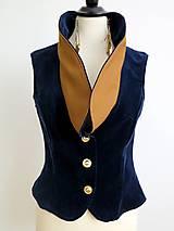 Iné oblečenie - zamatová vesta  - 7196049_