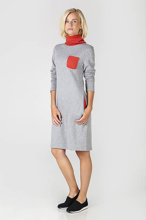 Šedé úpletové šaty   DesignDictat - SAShE.sk - Handmade Šaty 7085f20525