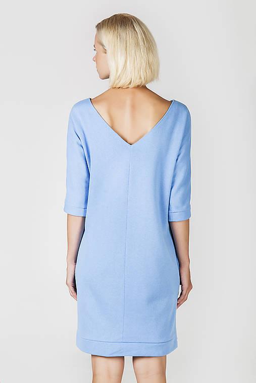 Světlemodré úpletové šaty--POSLEDNÝ KUS---   DesignDictat - SAShE.sk ... 5def641b26