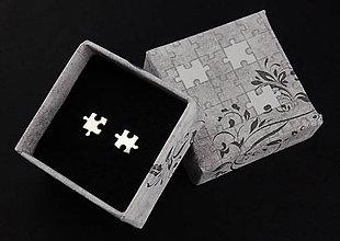 Náušnice - Puzzle napichovačky - 7194498_
