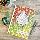 Papiernictvo - Zápisníky Farebná jeseň ((kvetový) - list 2) - 7194672_