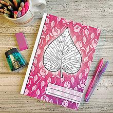 Papiernictvo - Zápisníky Farebná jeseň ((kvetový) - list 5) - 7195242_