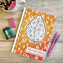 Papiernictvo - Zápisníky Farebná jeseň ((kvetový) - list 6) - 7195398_
