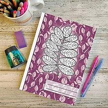 Papiernictvo - Zápisníky Farebná jeseň ((kvetový) - list 7) - 7195635_