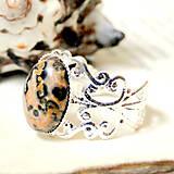 Prstene - Silver Romantic Leopard Jasper / Prsteň s leopardím jaspisom v striebornom prevedení - 7199546_