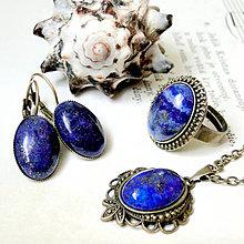 Sady šperkov - Vintage Bronze Lapis Lazuli Set / Set šperkov s lazuritom - 7197427_