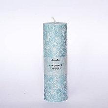 Svietidlá a sviečky - Modrá sviečka Ø45 - 7197424_