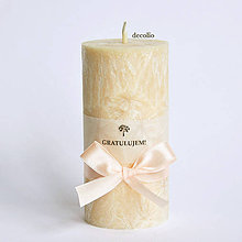 Svietidlá a sviečky - Medová sviečka s nápisom - 7197535_