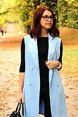 Iné oblečenie - Svetlo modrá vesta - 7198105_